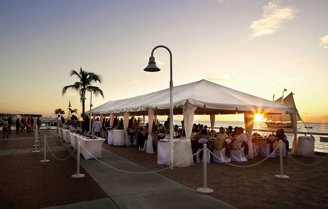 candles as wedding decor united with love.htm sunset wedding reception on westin pier meeting facility the  sunset wedding reception on westin pier