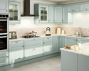 Kitchen Tiles Homebase valetti blue - homebase | Современный Дизайн Кухни | pinterest