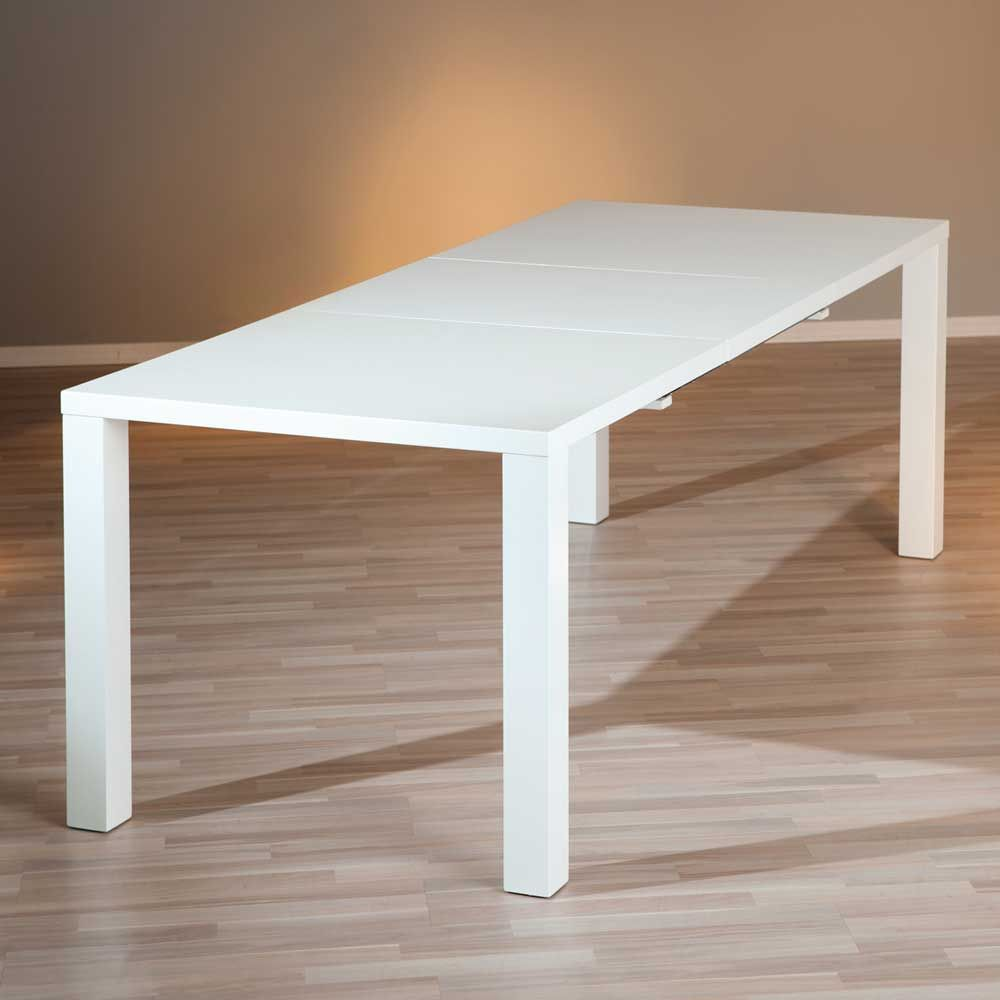 esstisch weiss zum ausziehen amazing runder tisch zum ausziehen luxury moebel direkt online. Black Bedroom Furniture Sets. Home Design Ideas