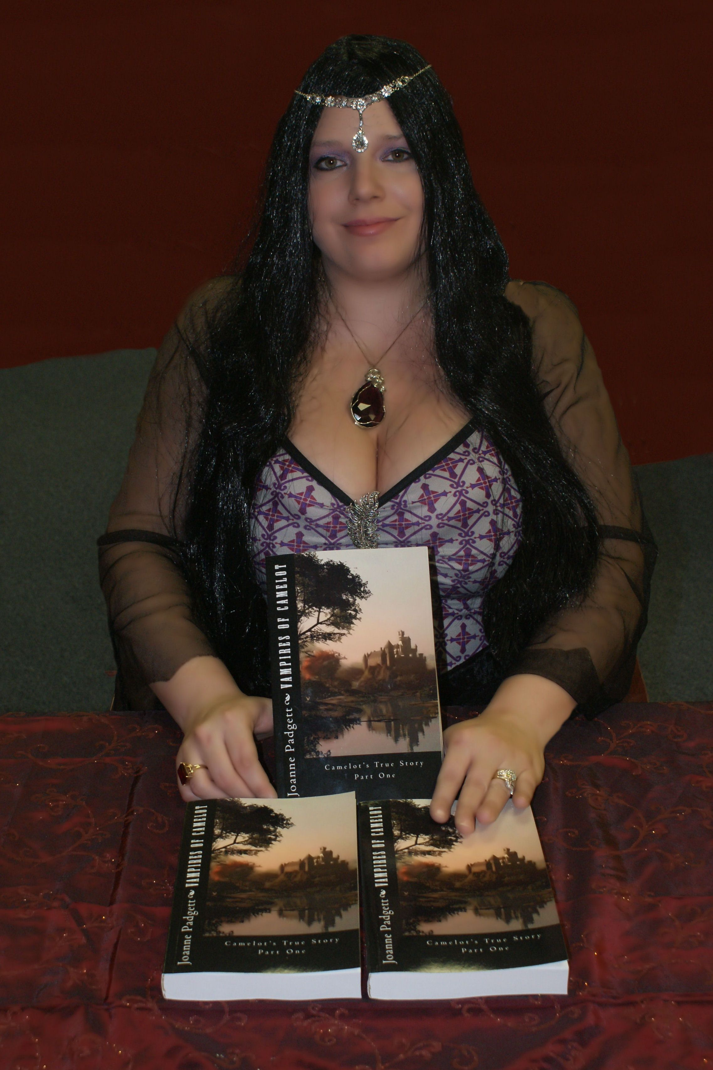 Here I am at first book signing I am dressed as Mab the evil Vampire