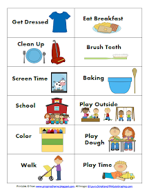 picture about Free Printable Visual Schedule for Preschool identify Pinspired Dwelling: Acquiring a Agenda That Functions for My Little one