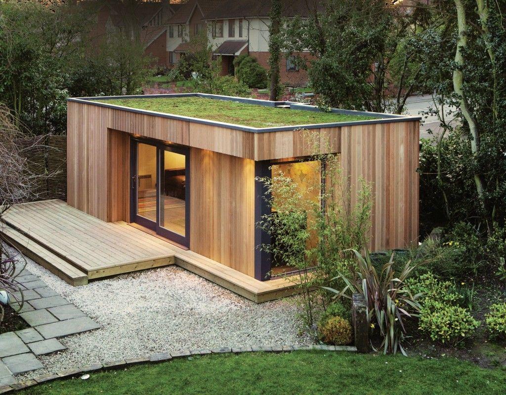 westbury garden rooms creates green roofed backyard retreats