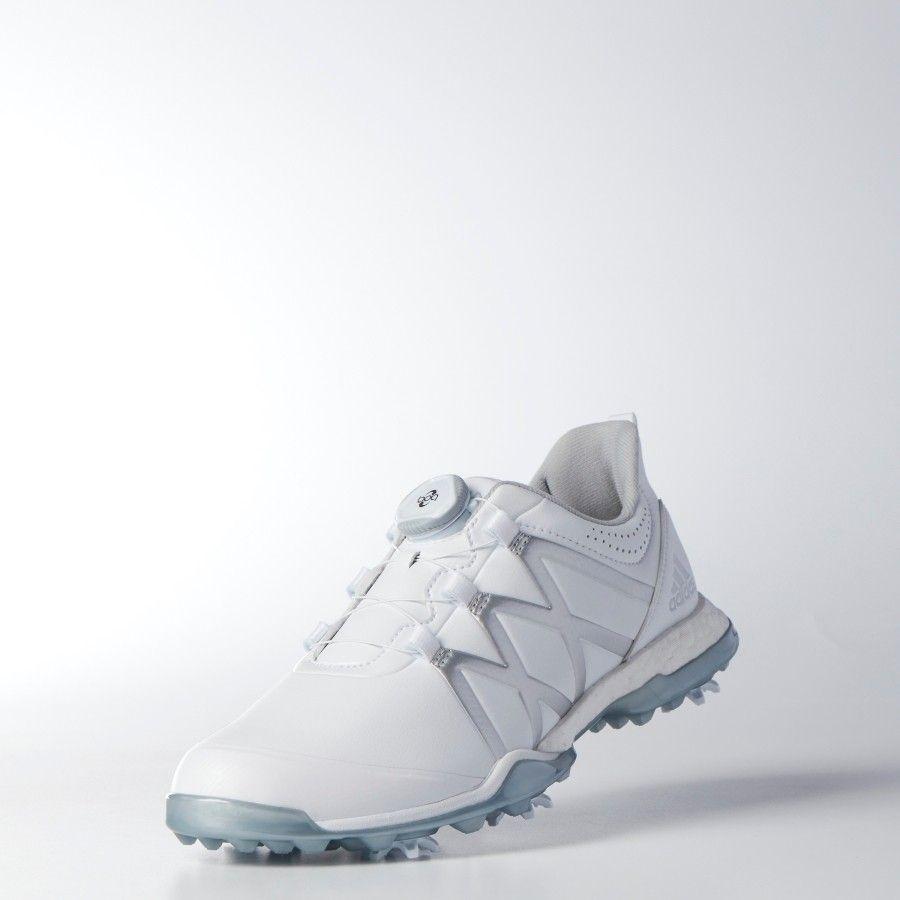 official photos 15d6f d30ce Adidas Ladies AdiPower Boost BOA Golf Shoe - WhiteSilver