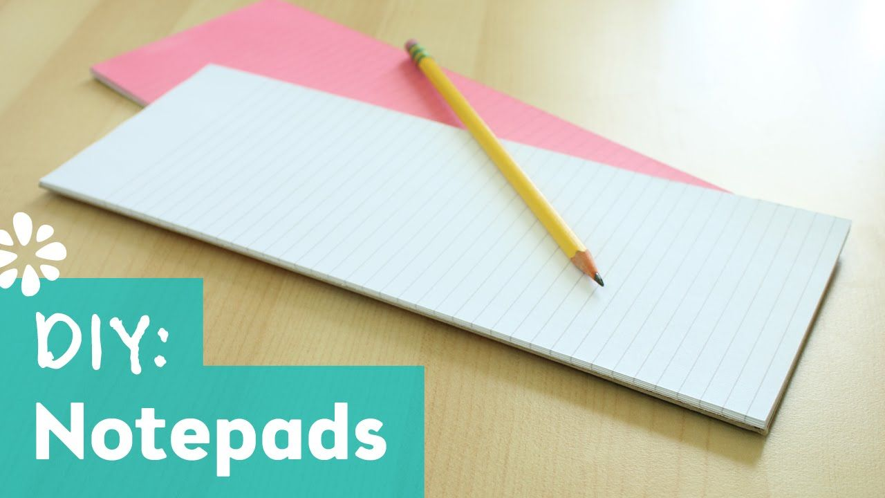 How to make your own custom notepads. Quick and easy DIY ...