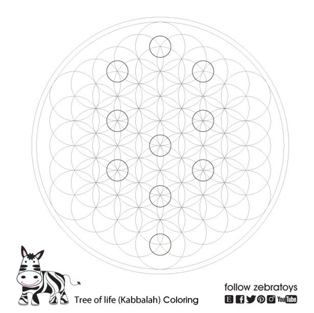 Kabbalah Sacred Geometry Symbols Coloring Book Jewish Etsy Sacred Geometry Symbols Sacred Geometry Coloring Books