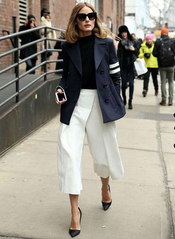 10 Looks com Culottes para Usar no Trabalho