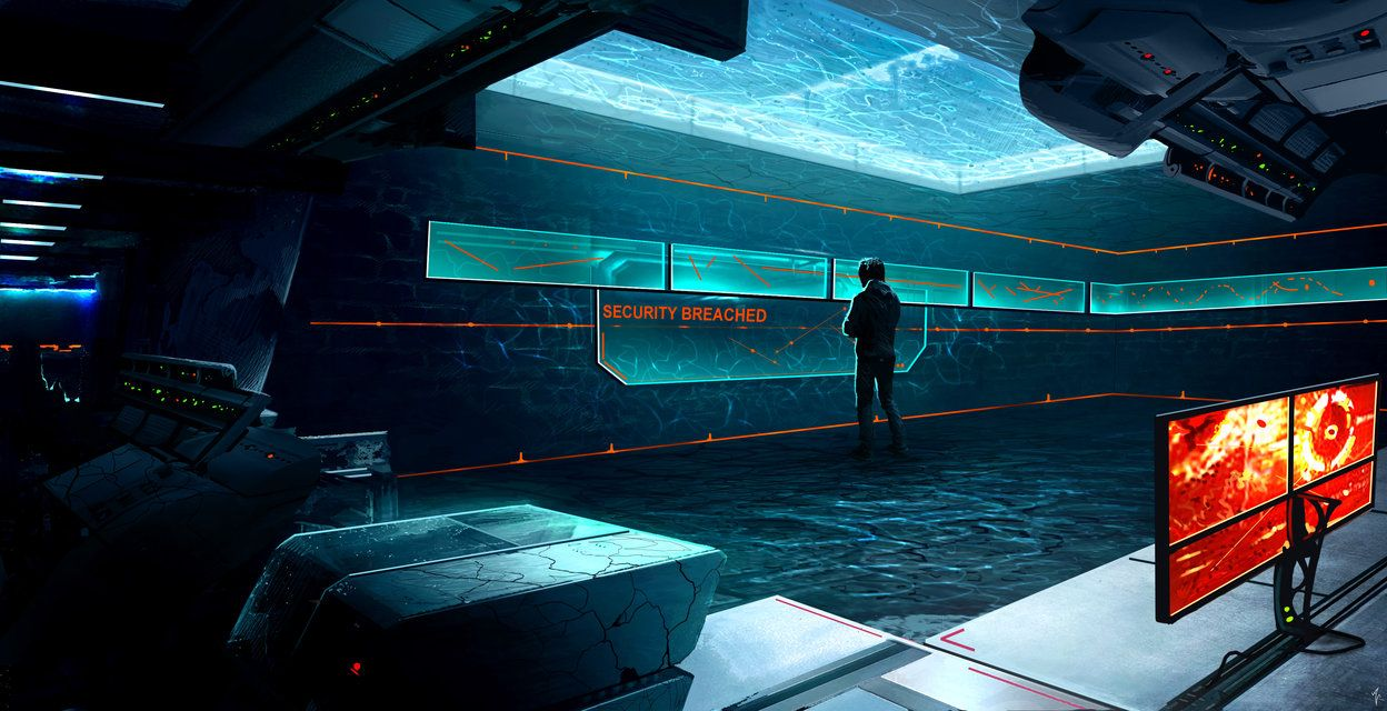 Cyberpunk Wallpaper, Dr REM's Secret Lab Control Room by