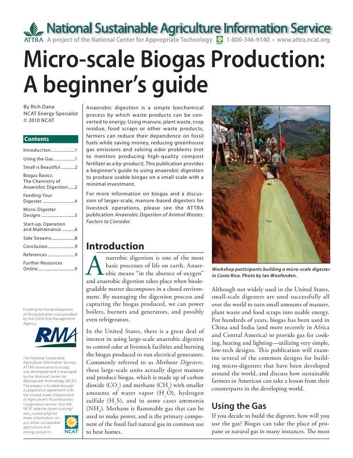 Biogas Production | Micro-scale Biogas Production: A