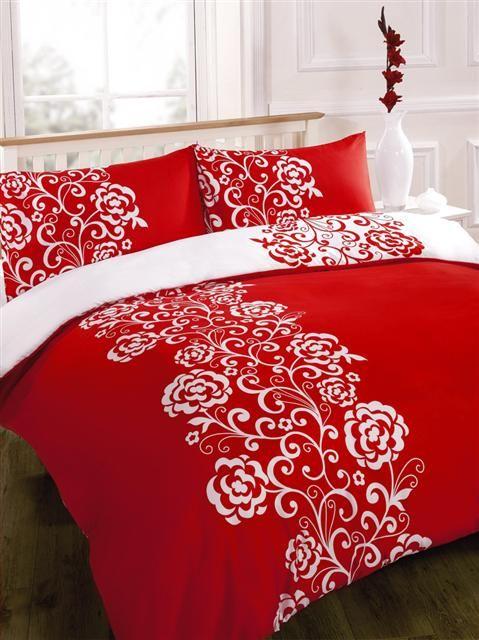 New Printed Duvet Quilt Cover Bed Sets Black White Or Red White Red Duvet Red Duvet Cover Red Bedding Sets