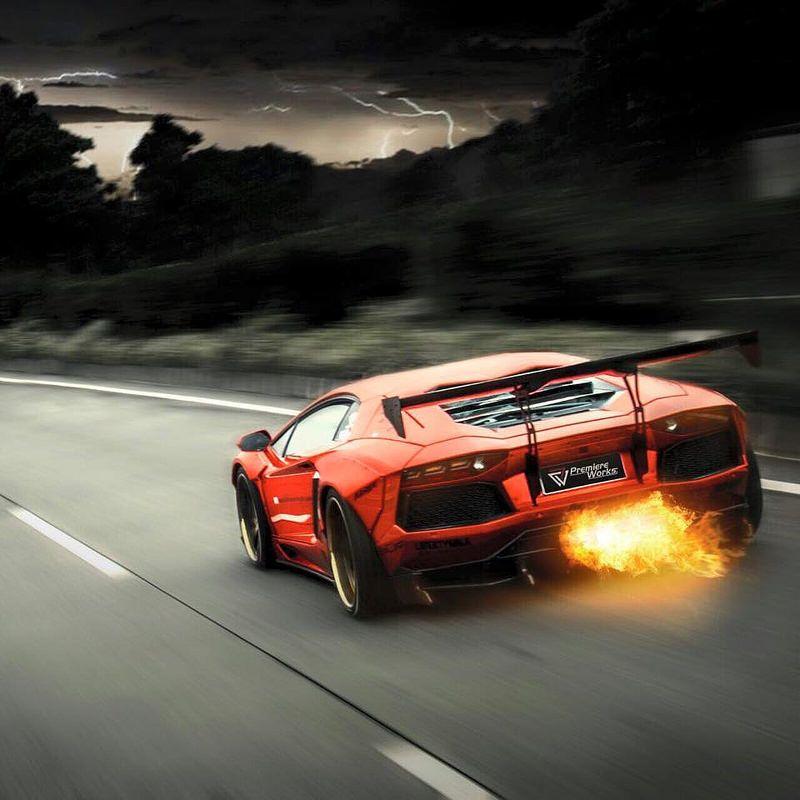 Lamborghini Aventador LP700 X Fi Exhaust X Liberty Walk Wide Body Kit!