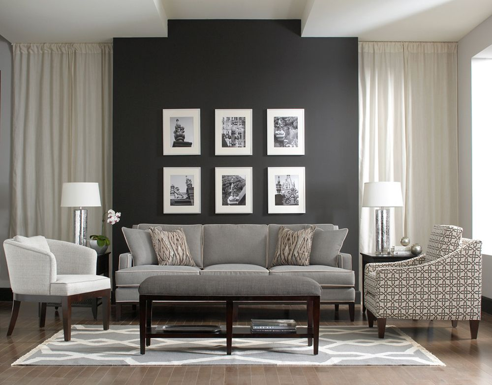Style Setter Living Room Vignette From The Libby Langdon Upholstery  Furniture Collection For Braxton Culler: Andrews Sofa, Jermain Chair,  Preston Bench, And Part 66
