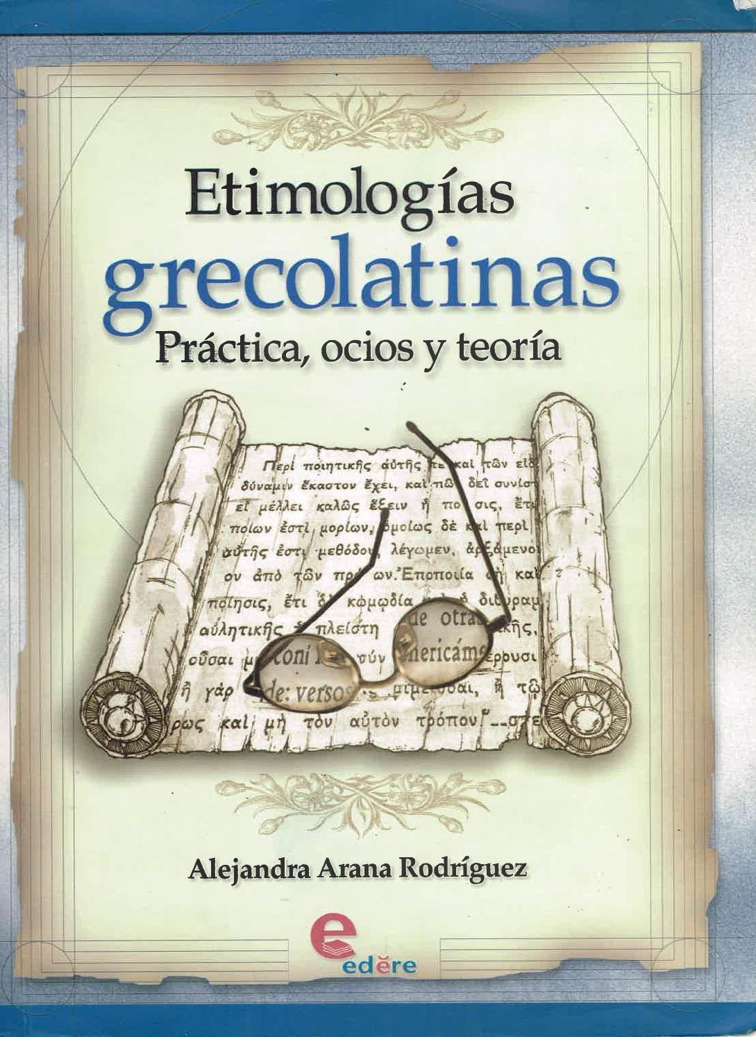 Diccionario De Etimologias Grecolatinas Ebook Download