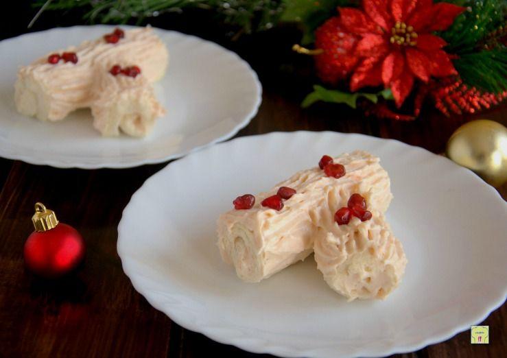 Antipasti Di Natale Monoporzione.Tronchetto Salato Al Salmone Monoporzione Cucina Food Recipes E
