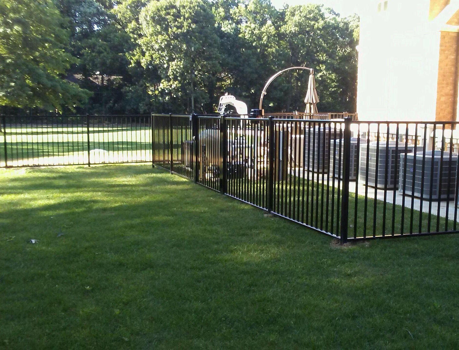 Aluminum Enclosure Around Ac Units Installed By Liberty Fence Railing