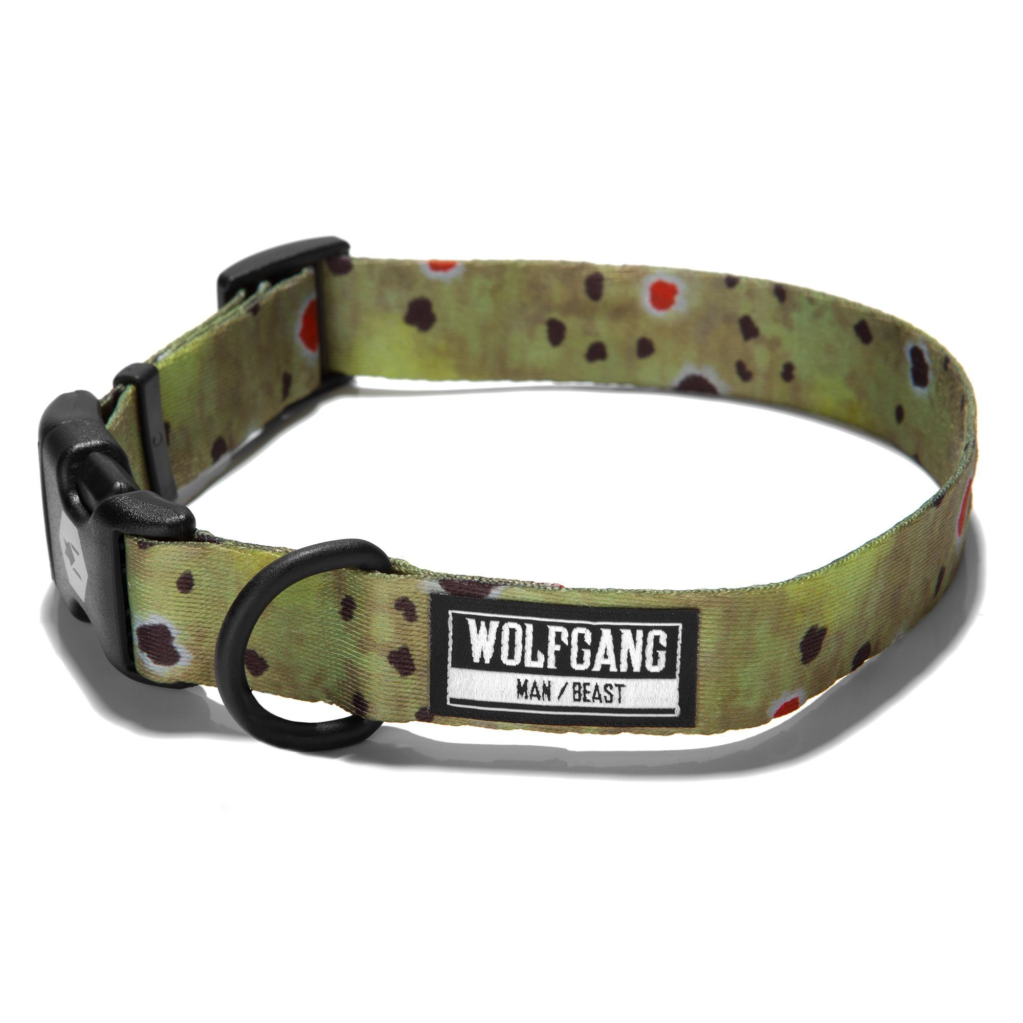Wolfgang Man And Beast Browntrout Dog Collar Size Large Wolfgang