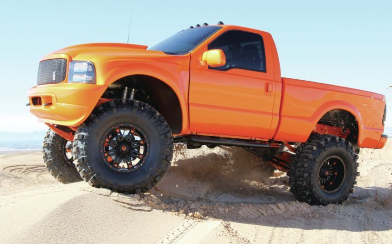 Show Stopper Custom 2001 Ford Super Duty F 350 Jacked Up Trucks