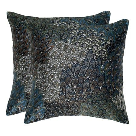 Love these!  I pinned this Patrice Pillow in Black - Set of 2 from the Rizzy Home event at Joss and Main!