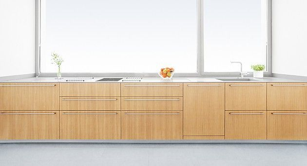 Lange Küchenzeile aus Eiche Furnier (plan 3 küche)   Kitchen ...