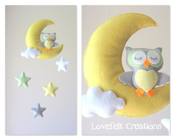 READY TO SHIP Baby mobile Owl mobile Crib by LoveFeltXoXo, $75.00