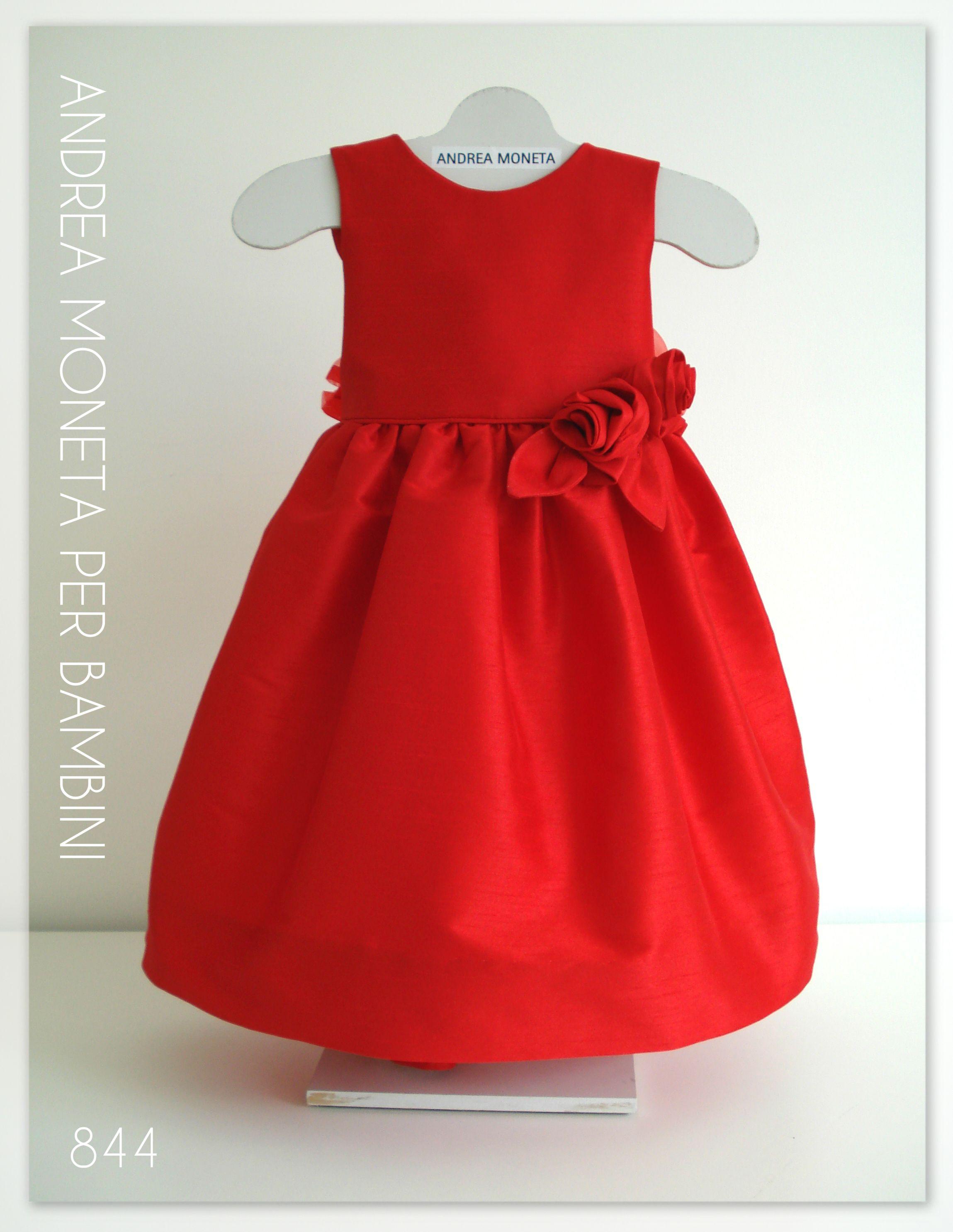 844 Hermoso vestido rojo formal bebe niña formal red dress