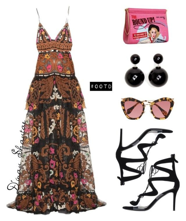 """""""#OOTD - Emilio Pucci Dress, Charlotte Olympia Clutch"""" by adswil ❤ liked on Polyvore featuring moda, Emilio Pucci, Miu Miu, Nicholas Kirkwood, Charlotte Olympia e ELLA"""