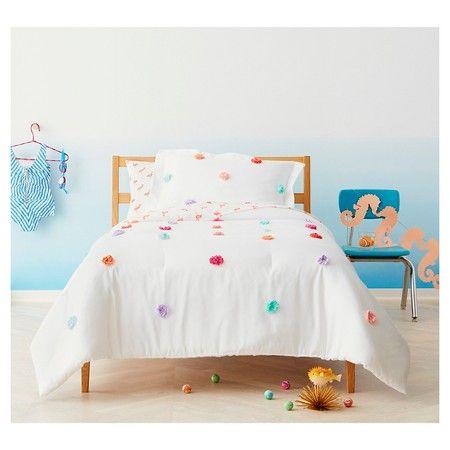 Pom Pom Comforter Set Twin 2 Pc Multicolor Pillowfort Target