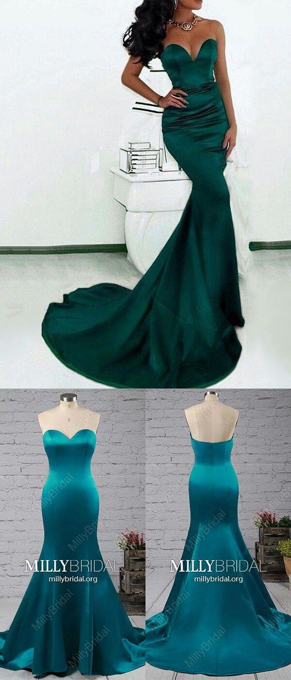 Long prom dresses for teensdark green formal evening dresses