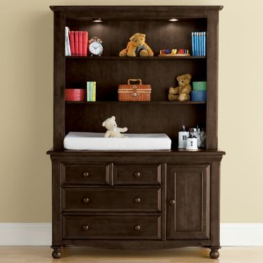 Bedford Baby Monterey Changing Table or Hutch - Chocolate Mist found ...