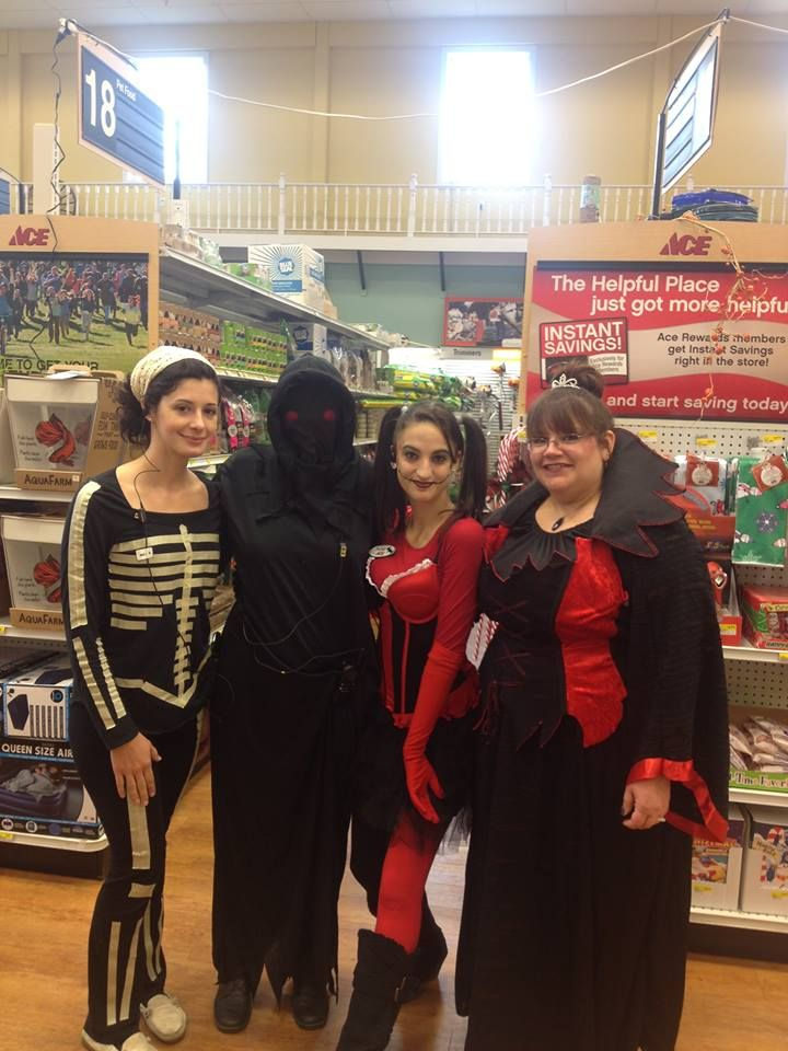 Happy Halloween from Goffstown Ace Hardware!! (aka the Grim Reaper, Kora and Kim!)