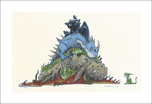 Toothless on top by ryan savas how to train your dragon how to train your dragon ccuart Choice Image
