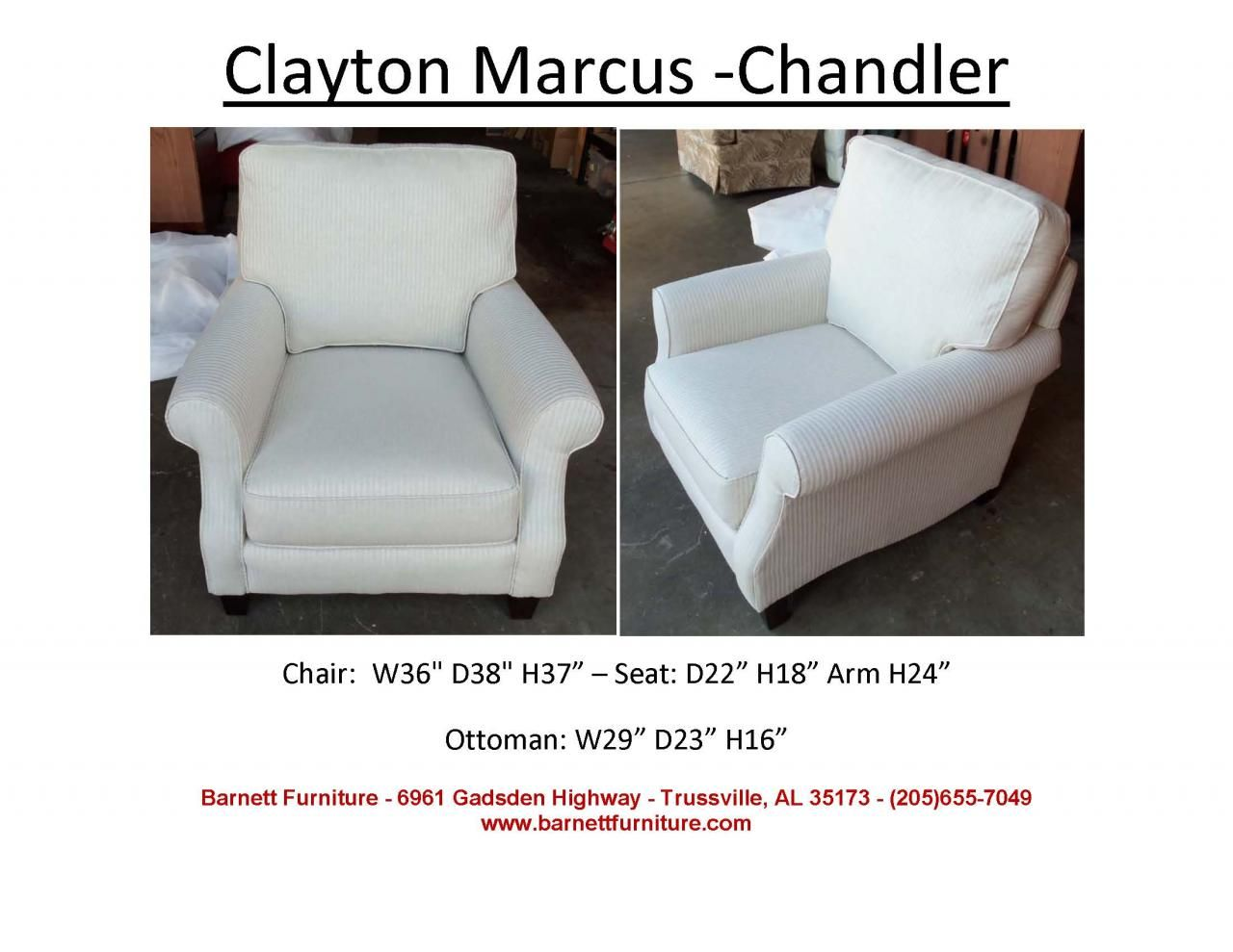 Clayton Marcus Chandler Chair. You Choose The Fabric