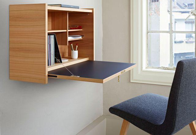 Gain De Place Meuble 2 En 1 Pratique Et Multifonction Bureau Mural Mobilier De Salon Parement Mural