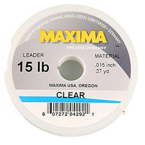 Maxima Fishing Line Leader Wheel, Clear, 6-Pound\/27-Yard http - line leader