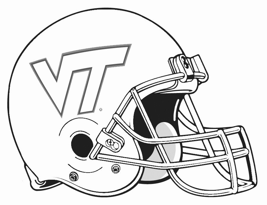 Football Helmet Coloring Page New College Football Helmet Coloring