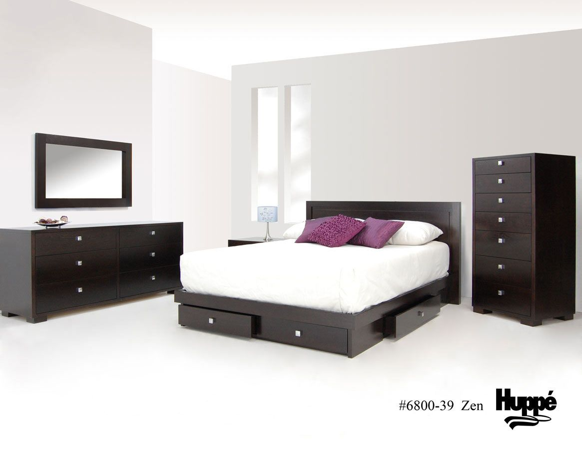 Stylish And Practical Contemporary Furniture For Every: Practical Bed With Drawers Storage HUPPÉ