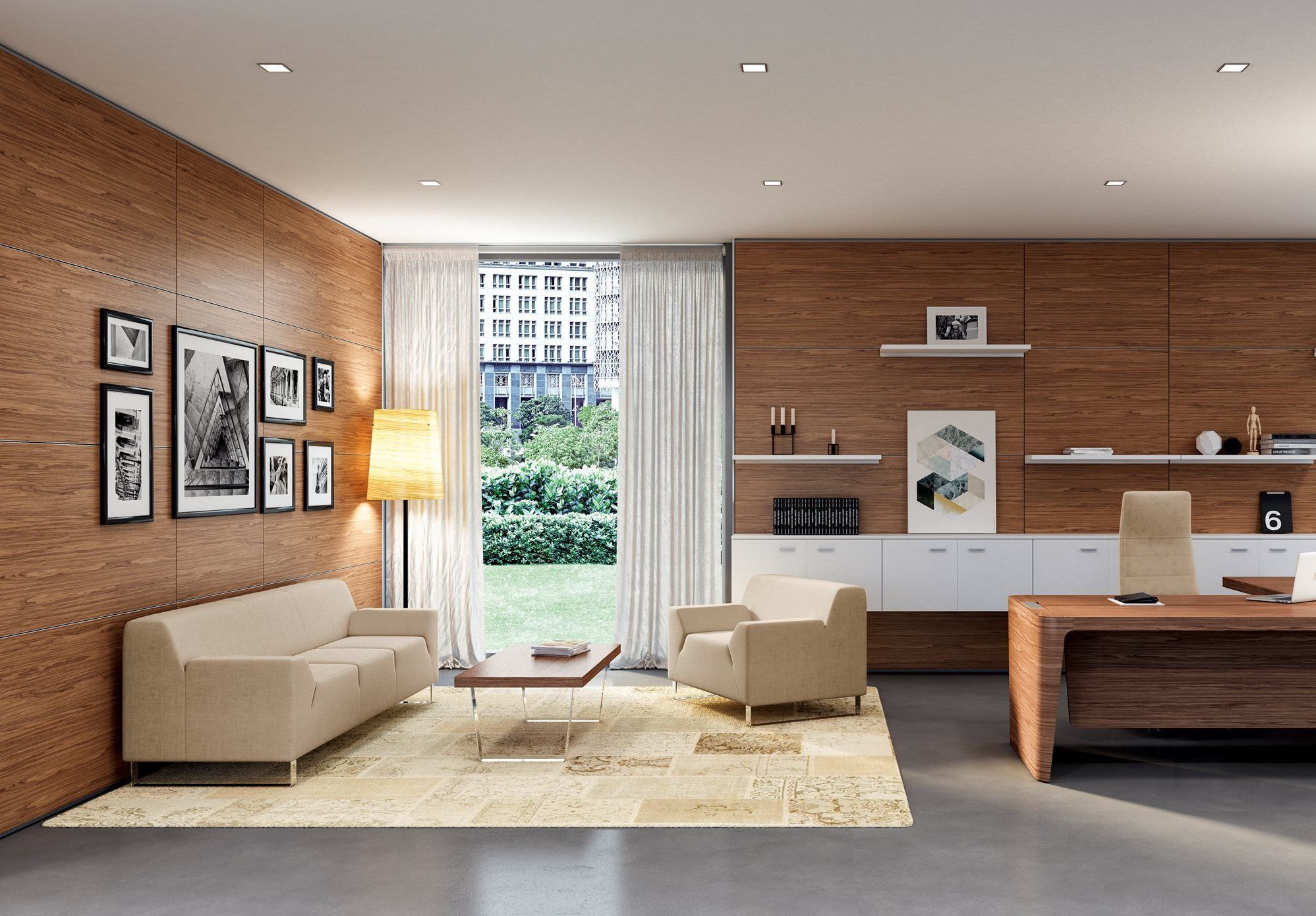 High End Office Design In Brown White And Beige This Stunning