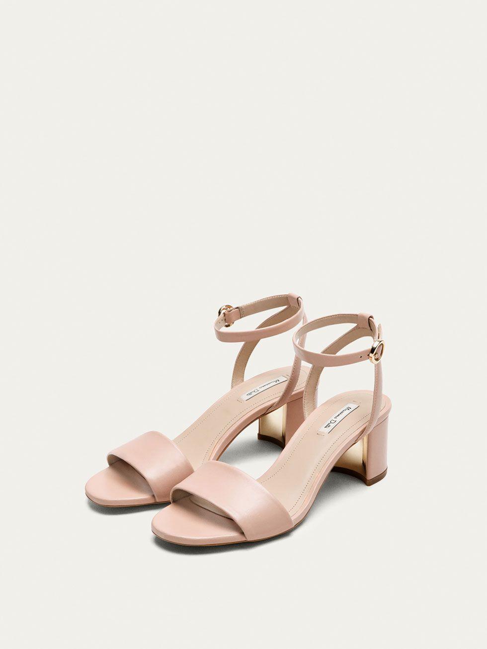 SANDALIA PIEL NAPA NUDE de MUJER - Zapatos de Massimo Dutti de Primavera  Verano 2017 por 69.95. ¡Elegancia natural! 914697569181