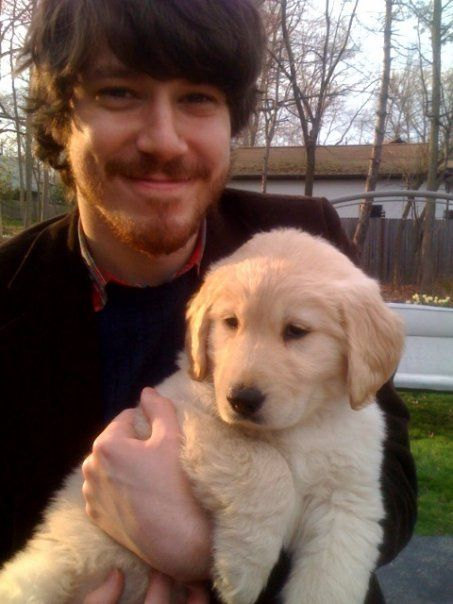 John Gallagher JR and a super adorable puppy <3
