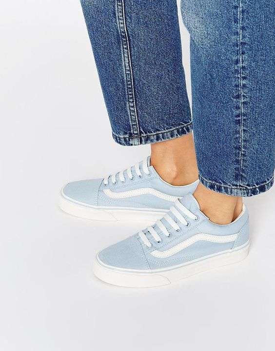 basket vans old skool bleu