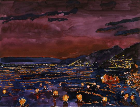 Graham Nickson (British, b. 1946), Camogli: Stella Maris, 2000. Watercolour and gouache on paper, 22 1/8 x 29 1/2 in.