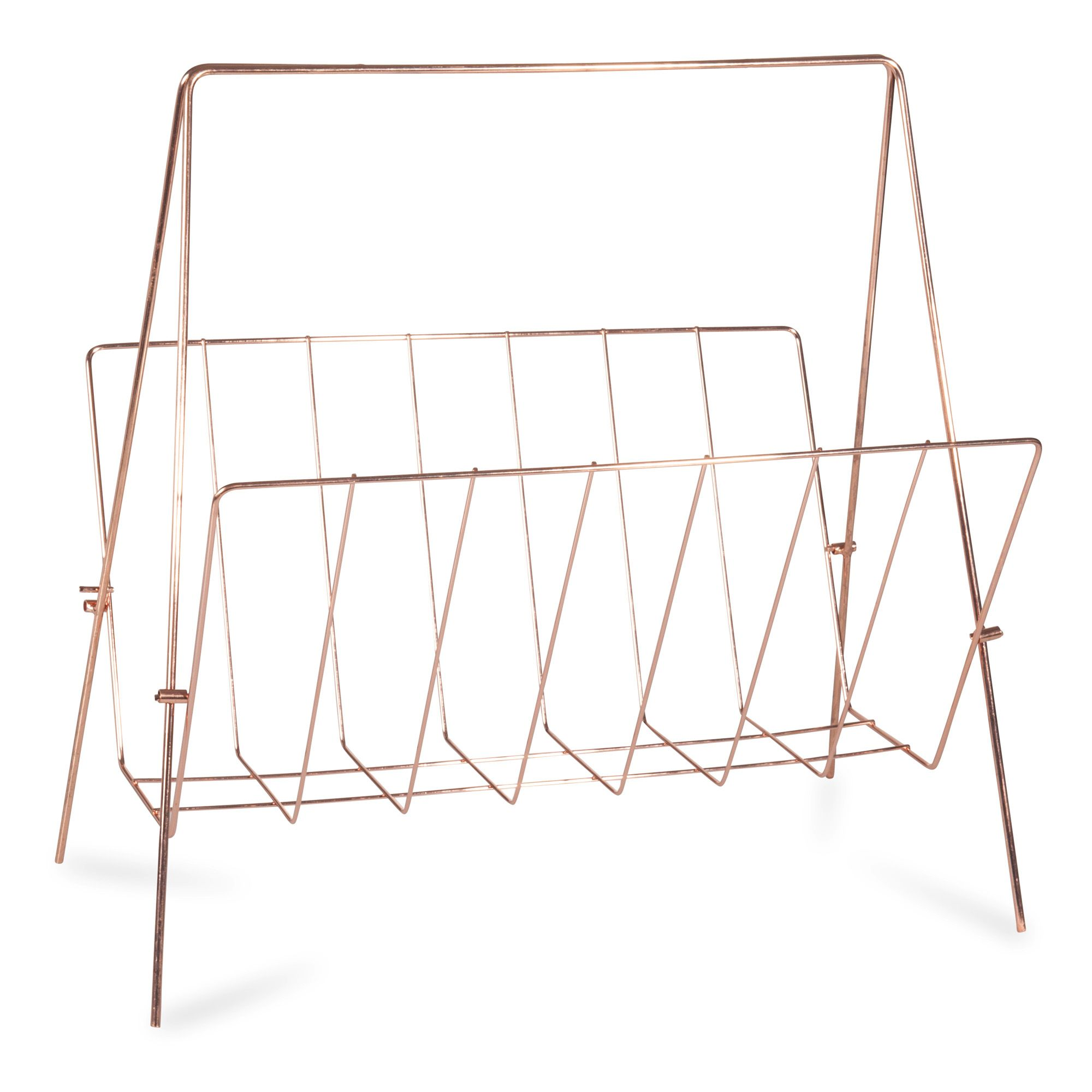 koperkleurig metalen swaggy copper tijdschriftenrek. Black Bedroom Furniture Sets. Home Design Ideas