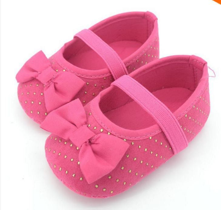 Pink \u0026 Gold dots baby girl shoes | Baby