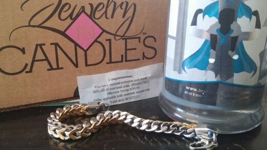Here is the beautiful men's silver and gold bracelet i got out of my fathers day candle. I also won 40% off my next order! That means the Harley is still out there. Order yours today you may be the lucky one! www.specialcandleswithtammy.com