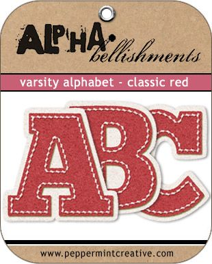 Love these letters. Perfect for school or sports pages - peppermintcreative.com