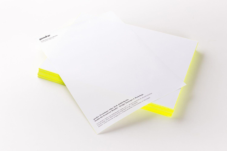 Corporate Design Briefpapier Gooder Studio