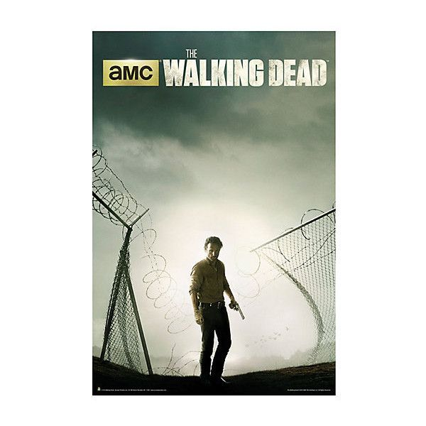 The walking dead rick prison fence poster hot topic 8 50 ❤ liked on · walking dead season 4product posterposter printsframed