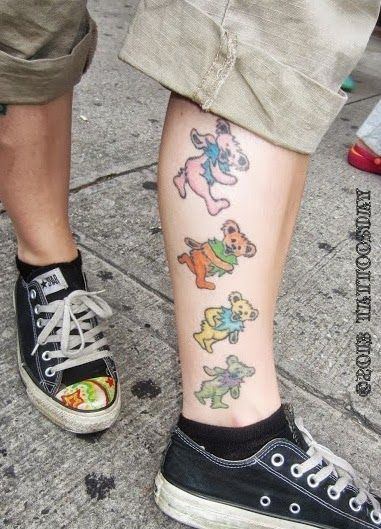Tattoosday (A Tattoo Blog): Andrea's Dancing Bears Show Her Dead-ication to