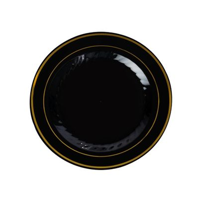 6 Inch Plastic Plates in Black with Gold Rim/Case of 150 Tags Dessert  sc 1 st  Pinterest & 6 Inch Plastic Plates in Black with Gold Rim/Case of 150 Tags ...
