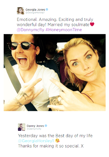 congrats to the happy couple! Mcfly, Mr and mrs jones