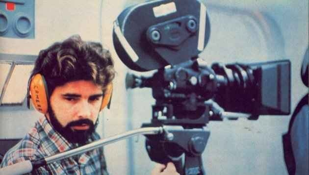 George Lucas behind the scenes filming #StarWars Episode IV - A New Hope (1977)